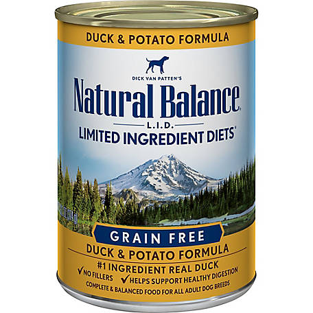Natural Balance L.I.D. Limited Ingredient Diets Duck & Potato Formula Wet Dog Food, 13.2 oz. Can