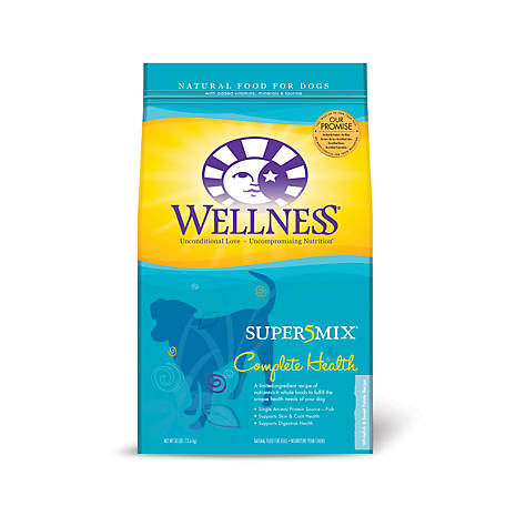 Wellness Complete Health Super5Mix Whitefish & Sweet Potato Recipe Dog Food, 30 lb.