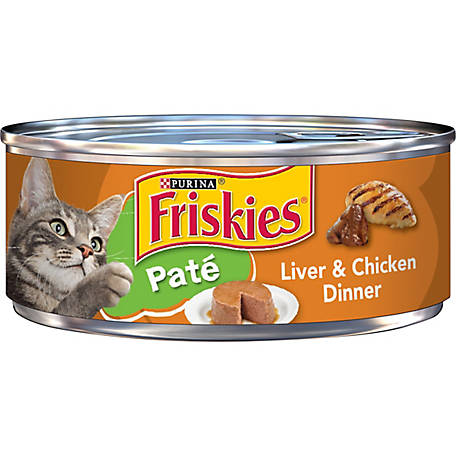 Purina Friskies Pate Wet Cat Food, Liver & Chicken Dinner, 5.5 oz. Can