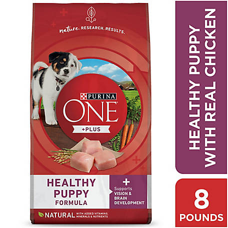 Purina ONE Natural Dry Puppy Food; SmartBlend Healthy Puppy Formula - 8 lb. Bag
