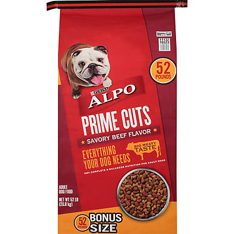 Purina ALPO Dry Dog Food, Prime Cuts Savory Beef Flavor, 52 lb. Bag