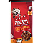 ALPO Prime Cuts Savory Beef Flavor Adult Dry Dog Food, 52 lb. Bonus Bag