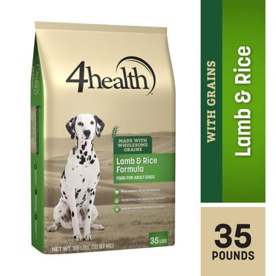4health Lamb & Rice Formula Adult Dog Food, 35 lb. Bag