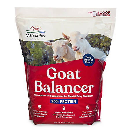 Manna Pro Goat Balancer Supplement, 10 lb., 1000323