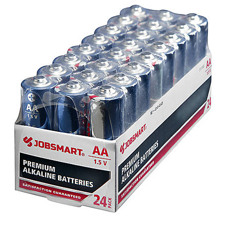 JobSmart AA Alkaline Battery, Pack of 24, 7151-24S
