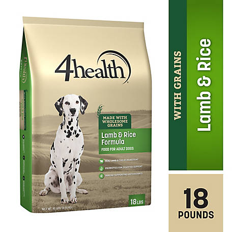 4health Original Lamb & Rice Formula Adult Dog Food, 18 lb. Bag