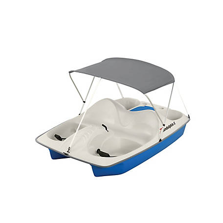 Sun Dolphin 5 Person Pedal Boat with Canopy, 71552