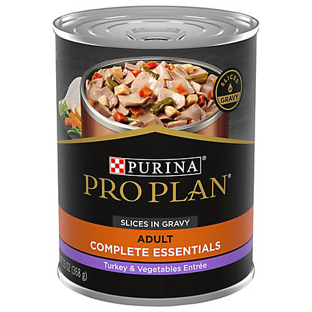 Purina Pro Plan Gravy Wet Dog Food; SAVOR Turkey & Vegetables Entree Slices, 13 oz. Can