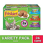 Friskies Classic Pate Wet Cat Food Variety Pack, 5.5 oz. Can, Pack of 24, 8.25 lb.