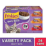 Purina Friskies Gravy Wet Cat Food Variety Pack Meaty Bits, 24 ct., 5.5 oz. Cans