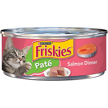 Purina Friskies Pate Wet Cat Food, Salmon Dinner, 5.5 oz. Can