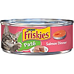 Friskies Classic Pate Salmon Dinner Wet Cat Food, 5.5 oz. Can