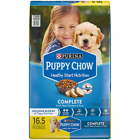 Purina Puppy Chow Dry Puppy Food, Complete with Real Chicken, 18 lb. Bag