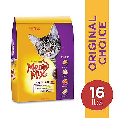 Meow Mix Original Choice Dry Cat Food, 16 lb. Bag
