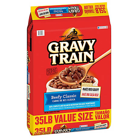 Gravy Train Beefy Classic Dry Dog Food Bonus Bag, 41 lb.