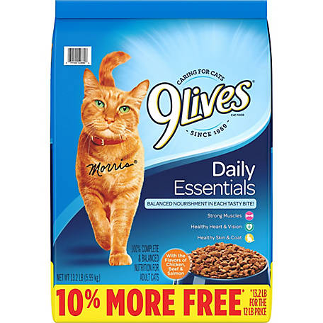 9Lives Daily Essentials Cat Food, 13.2 lb.