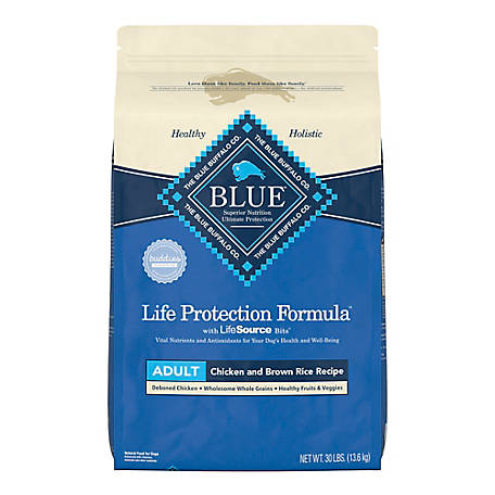 Blue Buffalo Life Protection Formula Chicken and Brown Rice Recipe Adult Dog Food, 30 lb.