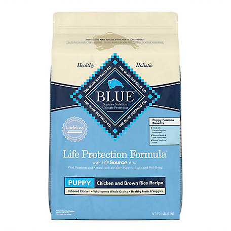 Blue Buffalo Life Protection Formula Chicken and Brown Rice Recipe For Puppies Dog Food, 15 lb.
