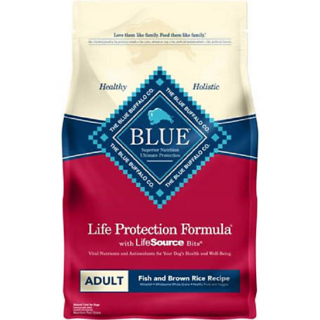 Blue Buffalo Life Protection Formula Adult Dog Food, Fish & Sweet Potato Recipe, 15 lb.