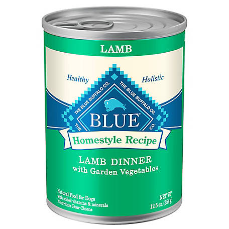 Blue Buffalo Homestyle Recipe Lamb Dinner with Garden Vegetables Wet Dog Food, 12.5 oz.