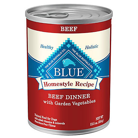 Blue Buffalo Blue Homestyle Recipe Beef Dinner with Garden Vegetables Wet Dog Food, 12.5 oz. Can