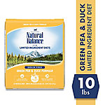 Natural Balance L.I.D. Limited Ingredient Diets Green Pea & Duck Formula Dry Cat Food, 10 lb. Bag
