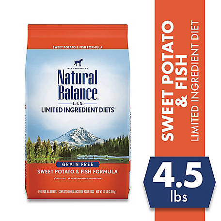 Natural Balance L.I.D. Limited Ingredient Diets Sweet Potato & Fish Formula Dry Dog Food, 4.5 lb.