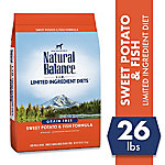 Natural Balance L.I.D. Limited Ingredient Diets Sweet Potato & Fish Formula Dry Dog Food, 26 lb. Bag