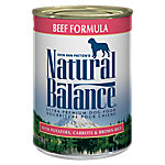Natural Balance Ultra Premium Beef Formula Wet Dog Food, 13 oz. Can