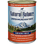 Natural Balance L.I.D. Limited Ingredient Diets Fish & Sweet Potato Formula Wet Dog Food, 13 oz. Can