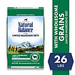Natural Balance L.I.D. Limited Ingredient Diets Lamb Meal & Brown Rice Formula Dry Dog Food, 28 lb. Bag