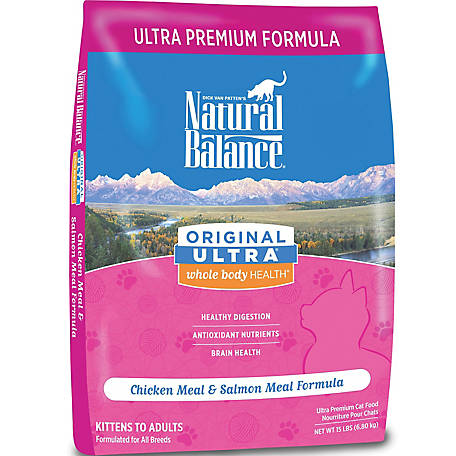 Natural Balance Original Ultra Whole Body Health Chicken Meal & Salmon Meal Formula Dry Cat Food, 15 lb.