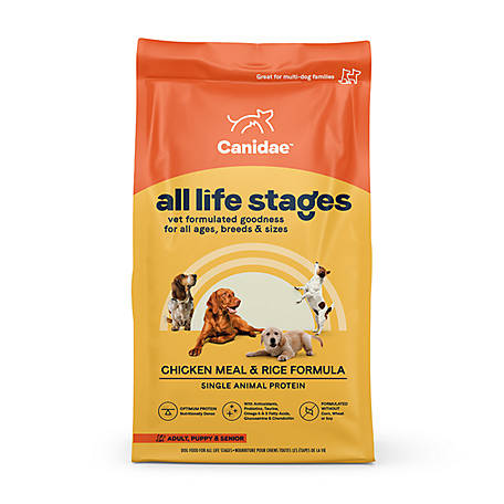 CANIDAE All Life Stages Dry Dog Food, Chicken Meal and Rice, 30 lb.