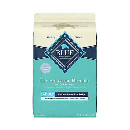Blue Buffalo Life Protection Formula Fish and Brown Rice Recipe Adult Dog Food, 30 lb. Bag