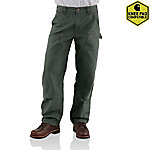 Carhartt Men's Washed Duck Double Front Dungaree Pants
