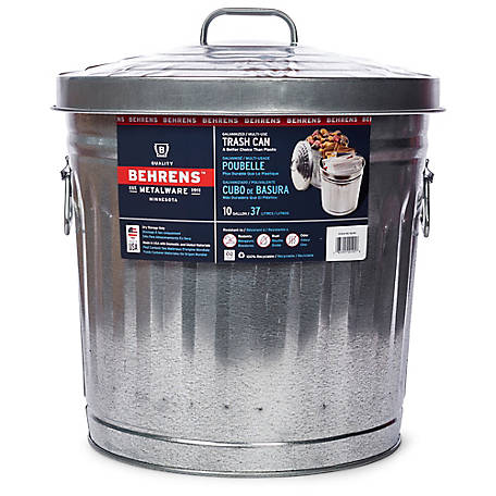 Behrens 10 Gallon Galvanized Steel Utility/Trash Can