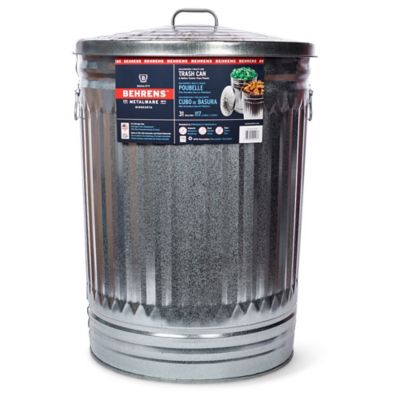 behrens 31 gallon galvanized steel can - Brute Trash Can