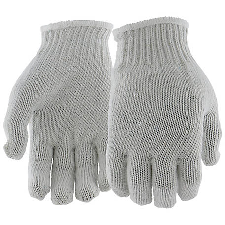 West Chester Men's String Knit Gloves, Pack of 12