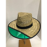 DPC Rush Straw Farmer Hat with Green Visor