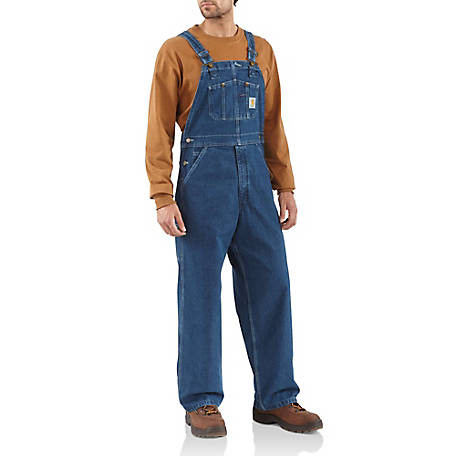 Carhartt Men's Unlined Washed Denim Bib Overalls