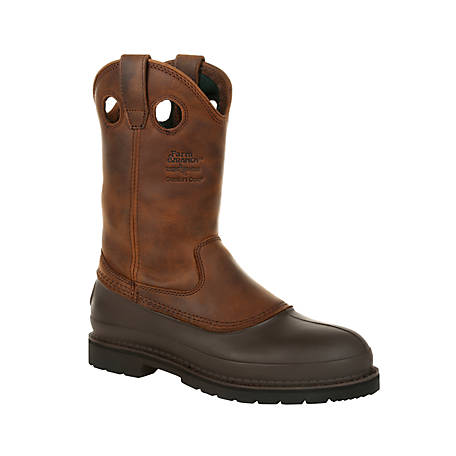 Georgia Boot Men's 11 in. Pull-On Muddog Comfort Core Work Boot
