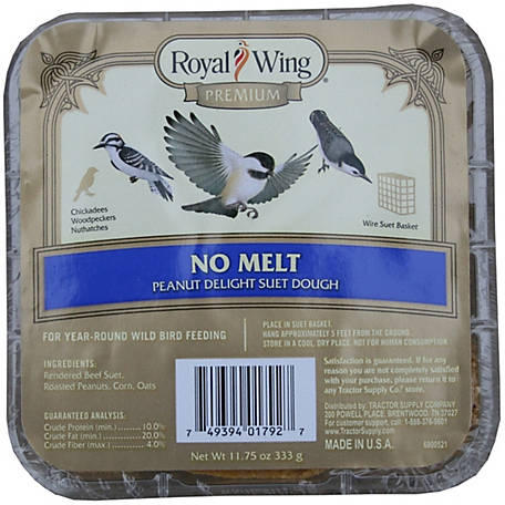 Royal Wing Premium No Melt Peanut Delight Suet Dough, 11-3/4 oz.