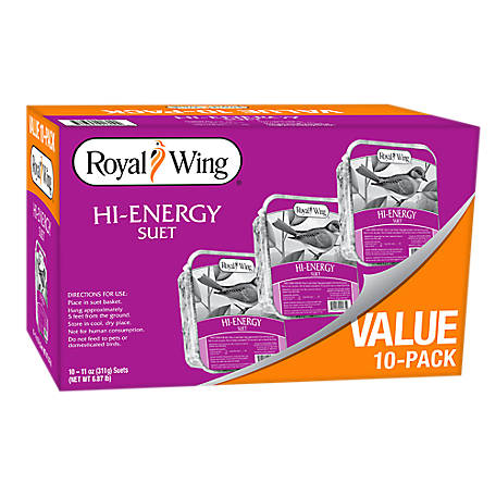 Royal Wing Hi-Energy Suet, Pack of 10