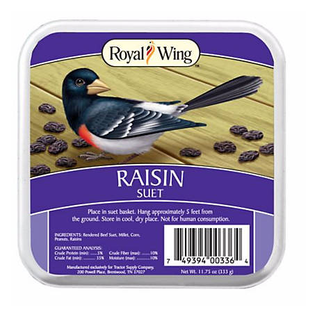 Royal Wing Raisin Suet