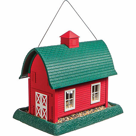 Royal Wing Red Barn Birdfeeder