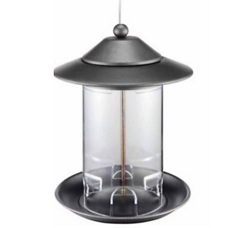 Royal Wing Clear Tube and Metal Bird Feeder