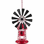 Royal Wing Red and Black Metal Windmill Bird Feeder