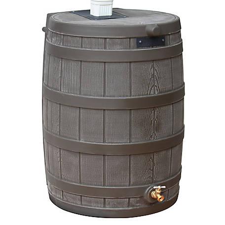 Good Ideas Rain Wizard 50 Gal Rain Barrel Oak Rw50 Oak At Tractor Supply Co