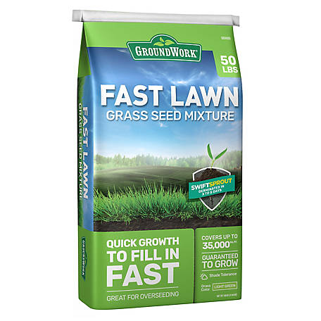 GroundWork Fast Lawn Grass Seed Mixture, 50 lb., 440AP0050UC-50