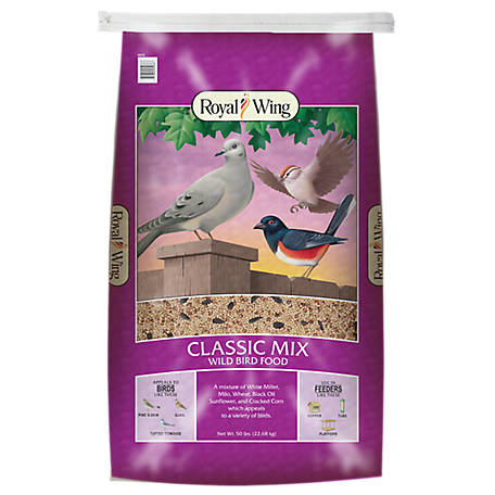 Royal Wing Classic Mix Wild Bird Food, 50 lb.